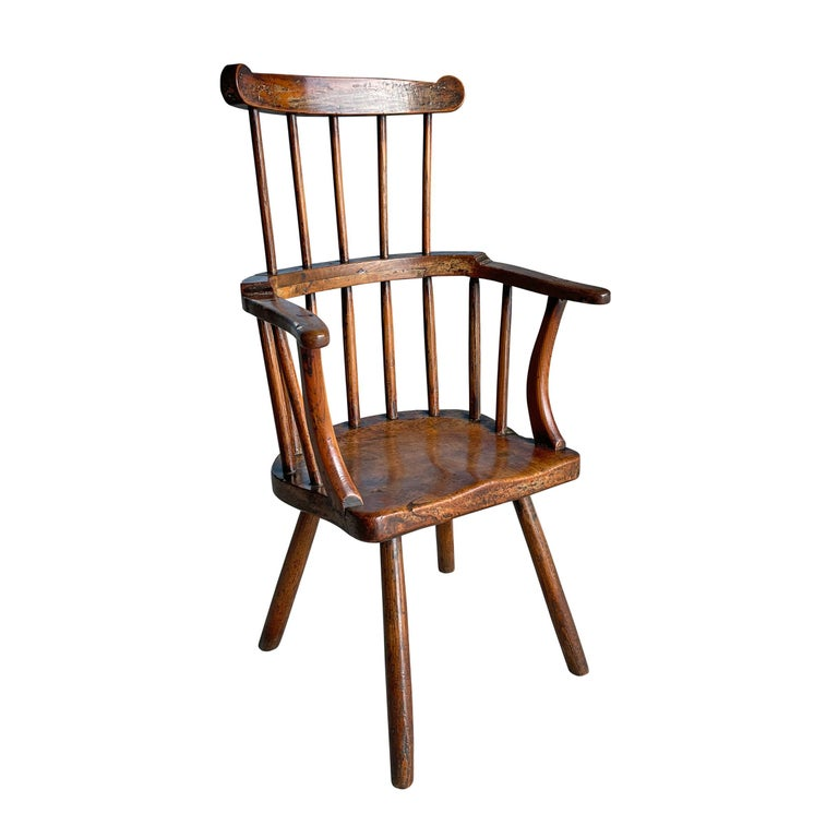 18th Century Welsh Stick Chair In Good Condition For Sale In Chicago, IL