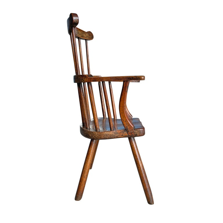 18th Century and Earlier 18th Century Welsh Stick Chair For Sale