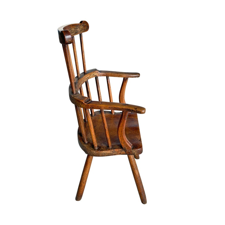 Elm 18th Century Welsh Stick Chair For Sale