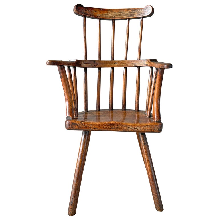 18th Century Welsh Stick Chair For Sale