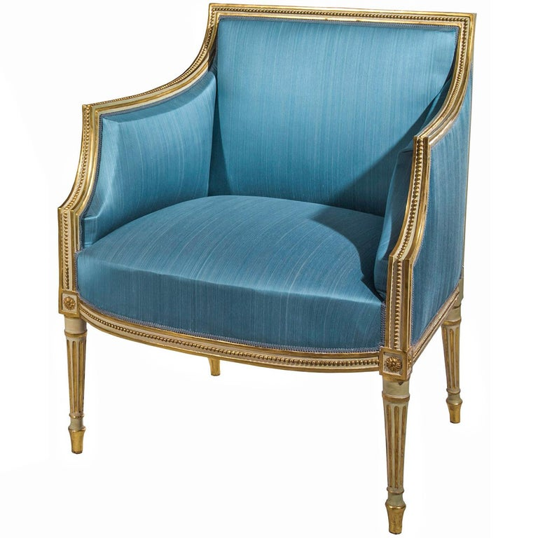 Gilded armchair, ca. 1790, offered by Peacock's Finest