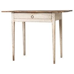 18th Century White Swedish Gustavian Desk
