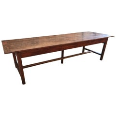 18th Century Wide Oak Refectory Table
