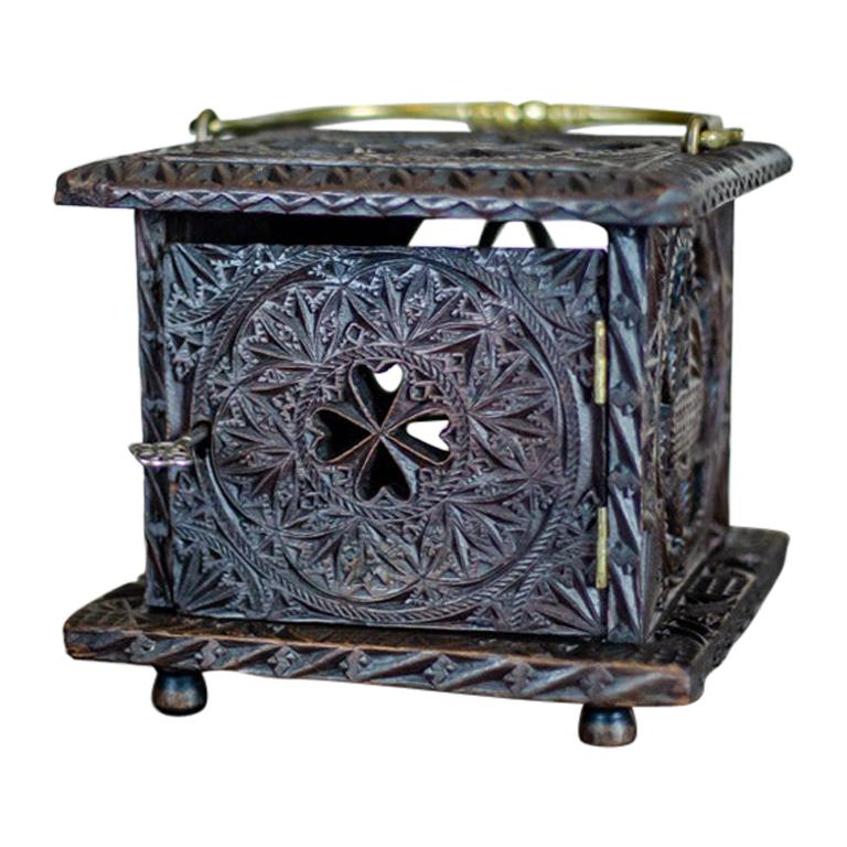 18th Century Wooden Foot Warmer For Sale