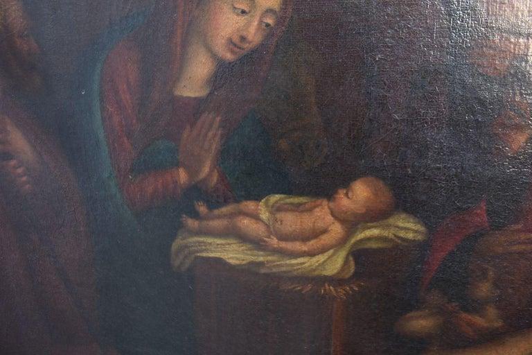 18th Century Oil on Canvas Italian School  For Sale 1