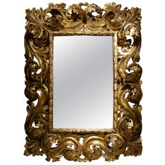 "18th Italian Century ""A Cartoccio"" Mirror"
