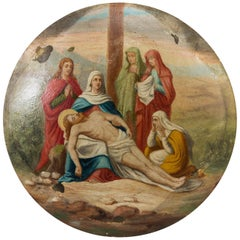 18th Century Oil in Copper Religious Painting