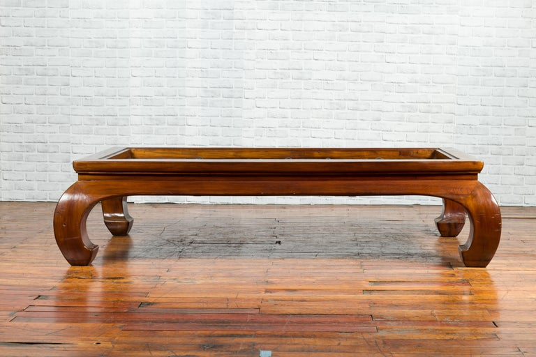 18th or 19th Century Elm Doors with Iron Hardware Made into a Ming Coffee Table For Sale 1