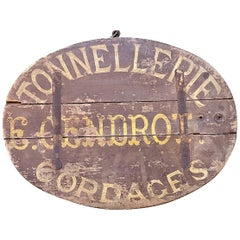 18th or 19th Century French Ship Chandler's Trade Sign