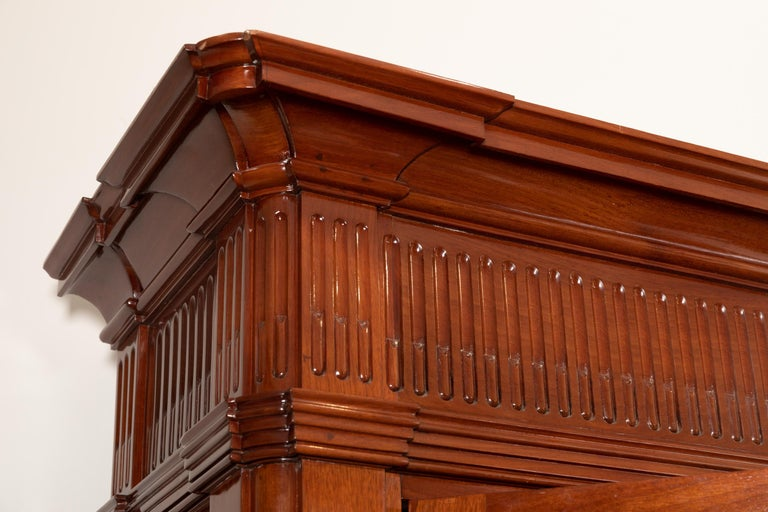 18th Century Period Mahogany Bookcase, Louis XVI, Stamped J.F Leleu For Sale 2