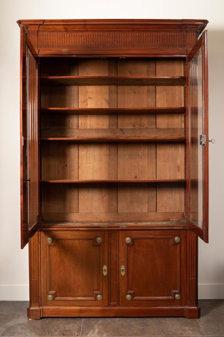 18th Century Period Mahogany Bookcase, Louis XVI, Stamped J.F Leleu For Sale 3