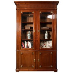 18th Century Period Mahogany Bookcase, Louis XVI, Stamped J.F Leleu