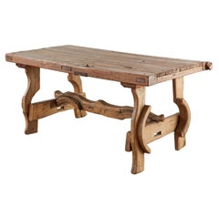 18th Spanish Baroque Style Primitive Farmhouse Dining Table