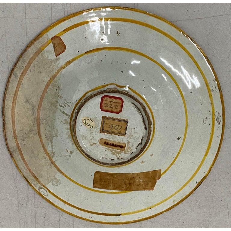 18th-19th Century Italian Istoriato Dish with Renaissance Figures For Sale 5