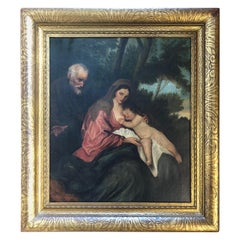 "18th-19th Century Old Master ""The Holy Family"" After Anthonius van Dyck"
