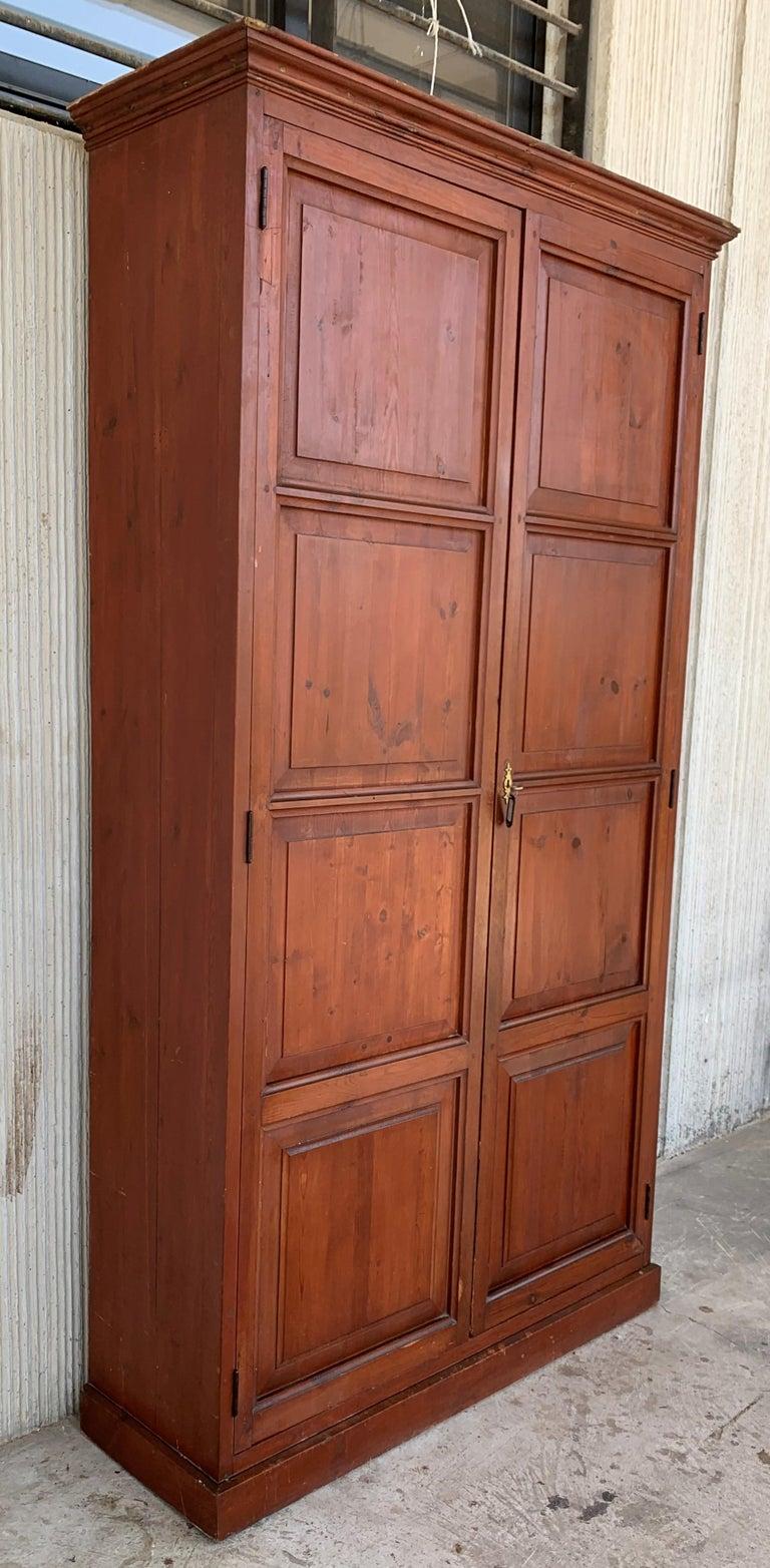 Baroque Wardrobe, Cupboard or Cabinet, Walnut, Castilian Influence, Spain Restored For Sale