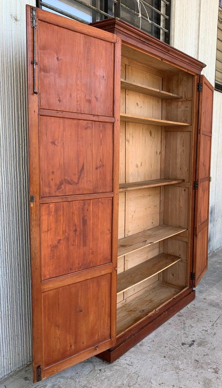 Wardrobe, Cupboard or Cabinet, Walnut, Castilian Influence, Spain Restored In Good Condition For Sale In Miami, FL