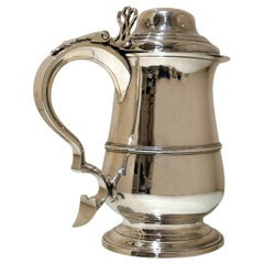 Antique George III Sterling Silver Tankard London 1789 Hester Bateman