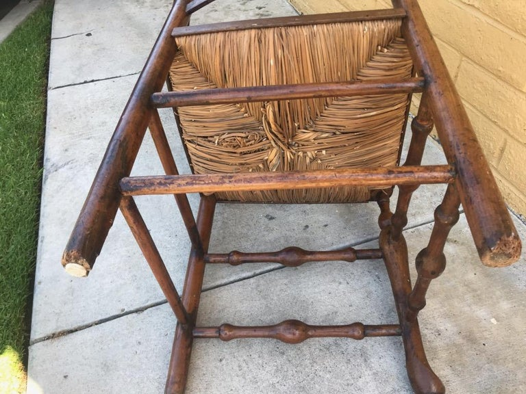 Country 18th Century Corner Chair from New England with Original Woven Seat For Sale