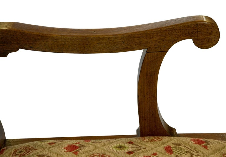 George I 18th Century Mahogany Drunkards Chair For Sale