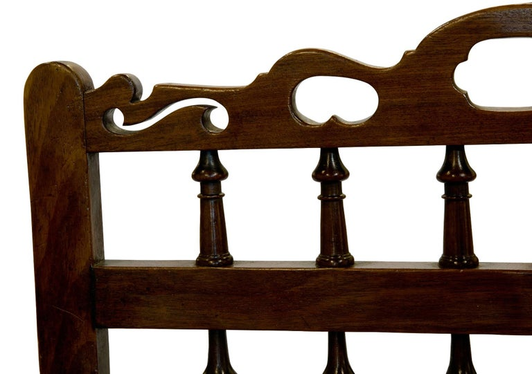 English 18th Century Mahogany Drunkards Chair For Sale
