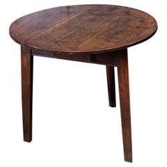 18thc English Oak Cricket Table