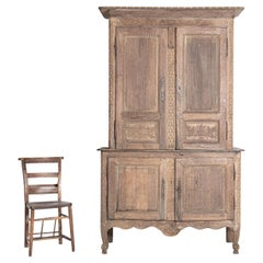 18thC French Provincial Carved Oak Buffet De Corps