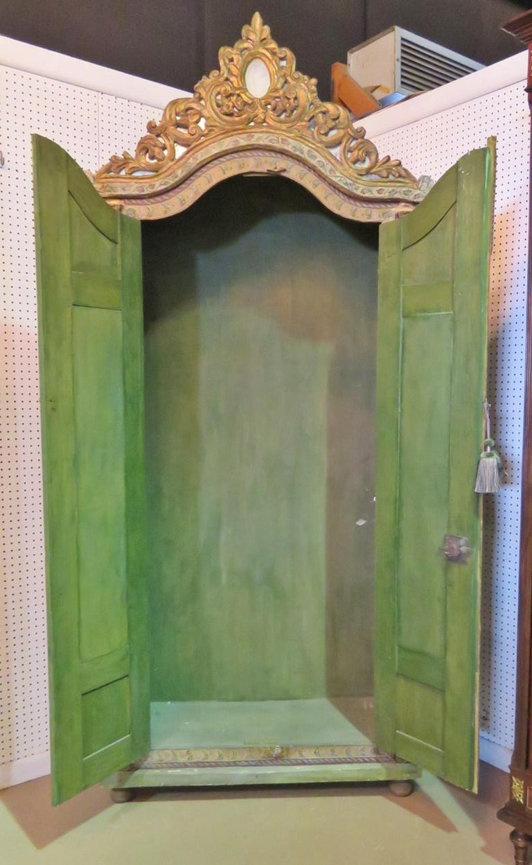 18th Century Italian Carved Wardrobe For Sale 1