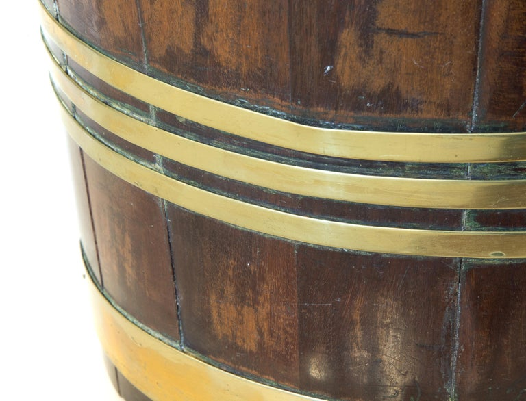 18th Century Mahogany and Brass Bound Bucket For Sale 1