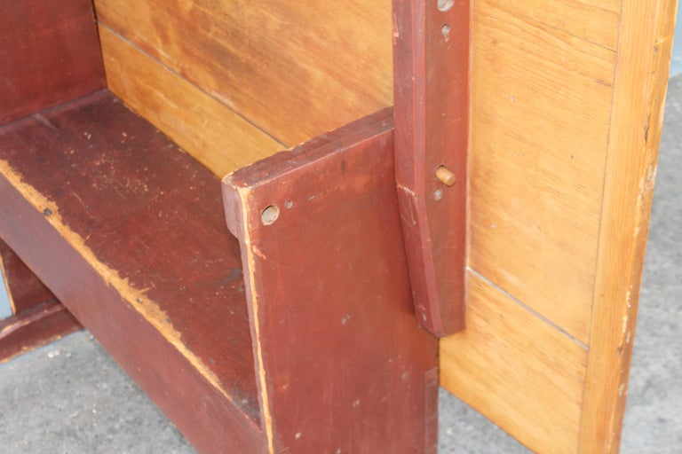 18th Century Original Red Painted Hutch Table For Sale 5