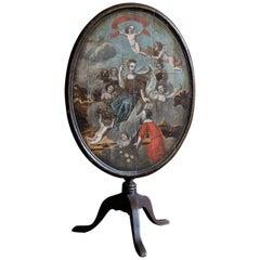18th Century Painted Mahogany Tilt-Top Tripod Table
