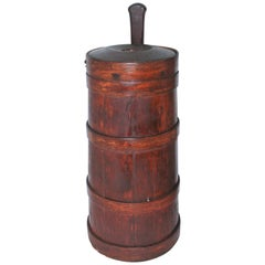 18th Century Tall Butter Churn from New England