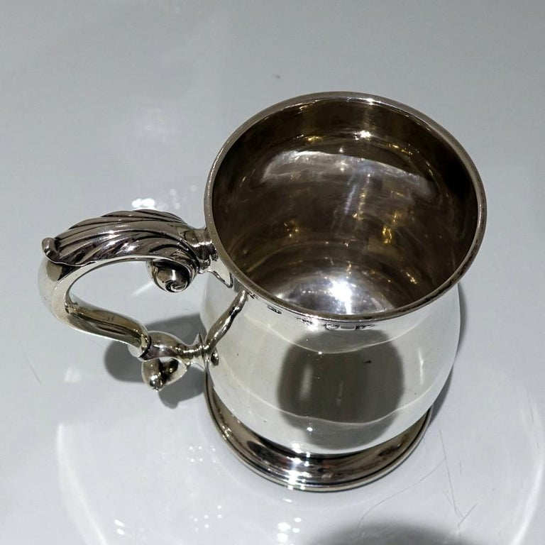 British 18thCentury Antique George III Sterling Silver Pint Mug Lon 1772 Orlando Jackson For Sale