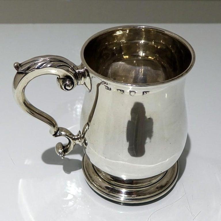 Late 18th Century 18thCentury Antique George III Sterling Silver Pint Mug Lon 1772 Orlando Jackson For Sale