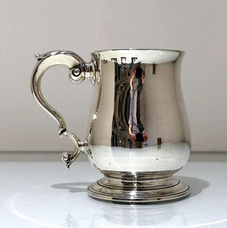 18thCentury Antique George III Sterling Silver Pint Mug Lon 1772 Orlando Jackson For Sale 1
