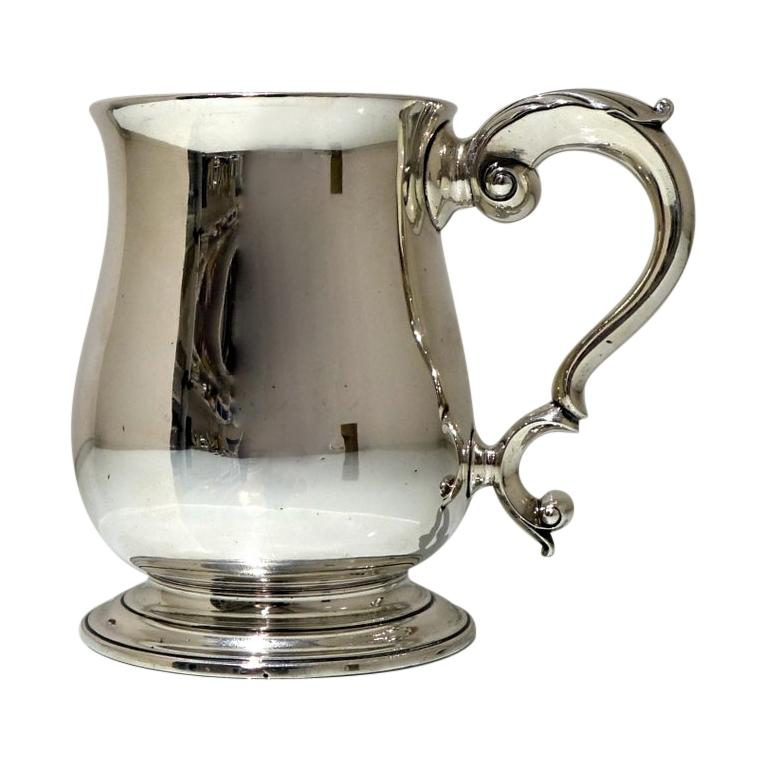 18thCentury Antique George III Sterling Silver Pint Mug Lon 1772 Orlando Jackson For Sale