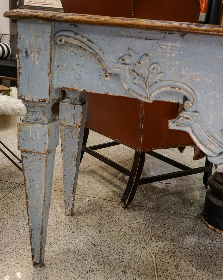 18th Century Luisxvi French Bluewood Handpainted and Carved Console Table, 1799 6