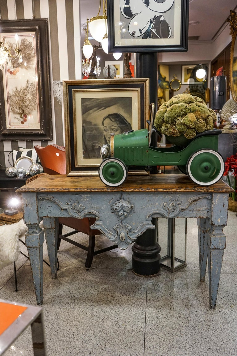 18th Century Luisxvi French Bluewood Handpainted and Carved Console Table, 1799 11