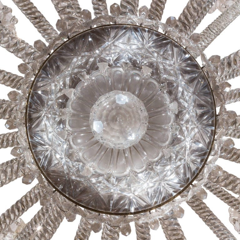 19th Century Neoclassical Baccarat Crystal and Glass 36-Light Crystal Chandelier For Sale 6