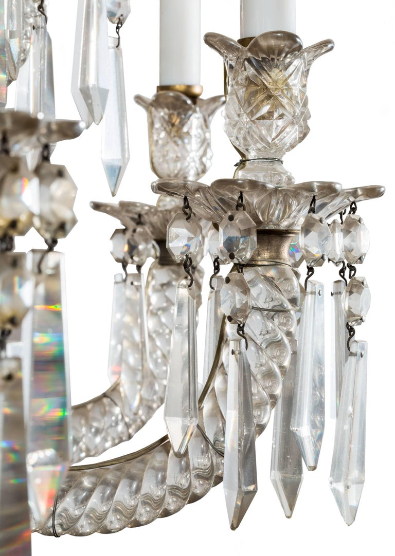 19th Century Neoclassical Baccarat Crystal and Glass 36-Light Crystal Chandelier In Good Condition For Sale In Madrid, ES
