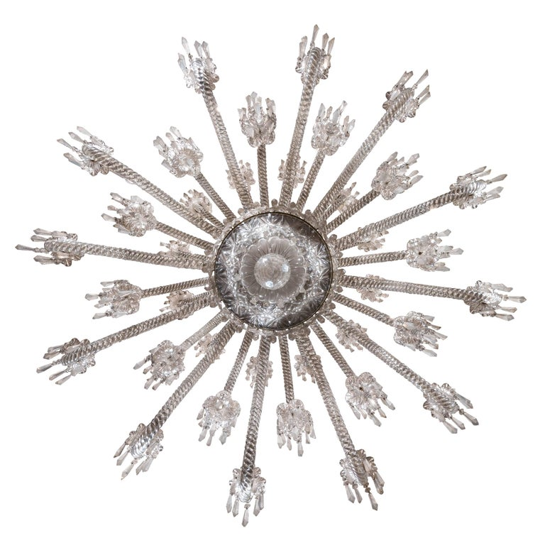 19th Century Neoclassical Baccarat Crystal and Glass 36-Light Crystal Chandelier For Sale 5