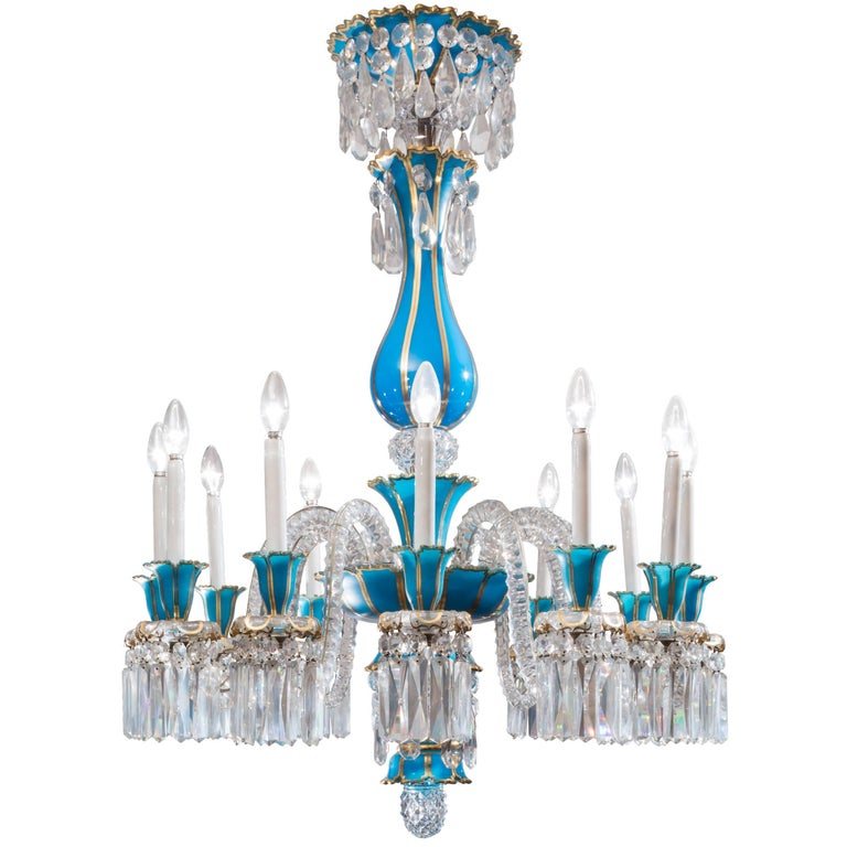 Baccarat Crystal Twenty Four Light Chandelier For Sale At