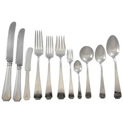 #19 by Durgin Sterling Silver Flatware Set for 12 Service 212 Pieces Dinner Deco