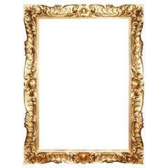 19 C Italian Carved wood Gilt Frame