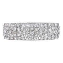 19 Carat Platinum and Diamond Art Deco Bracelet