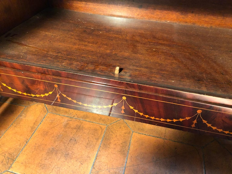 19th Century Charles X Dutch Mahogany Secretaire, 1830s For Sale 12