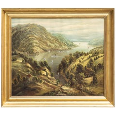 19th Century Hudson River School Oil on Canvas