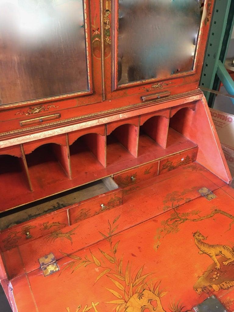 Regency 19 Century Italian Secretary Cabinet Desk For Sale