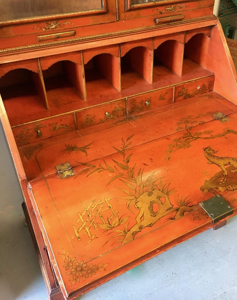 19 Century Italian Secretary Cabinet Desk In Good Condition For Sale In Los Angeles, CA