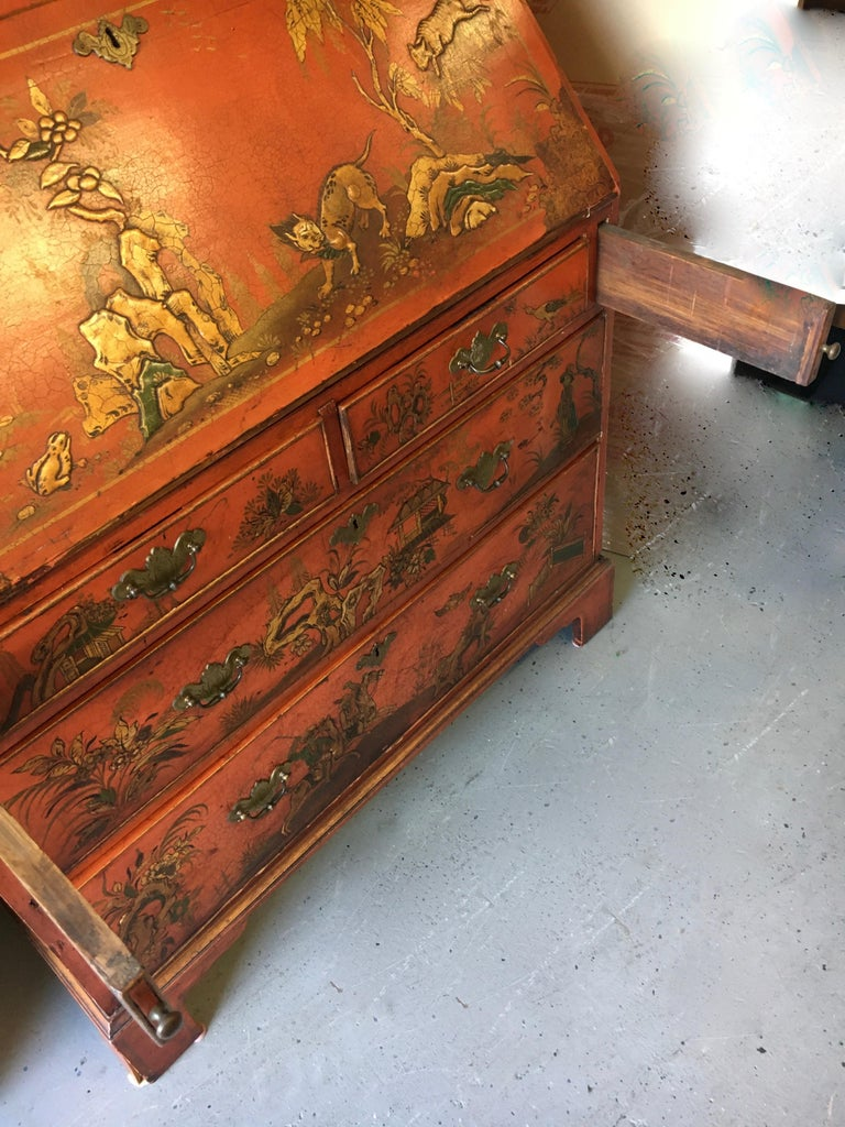 19th Century 19 Century Italian Secretary Cabinet Desk For Sale